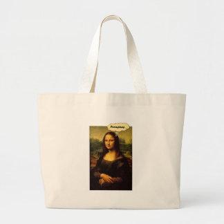 Mona Lisa Stachelschweine Jumbo Stoffbeutel