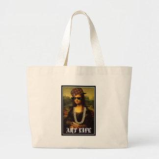 Mona Lisa Verbrecher-Leben-Kunst-Leben Jumbo Stoffbeutel
