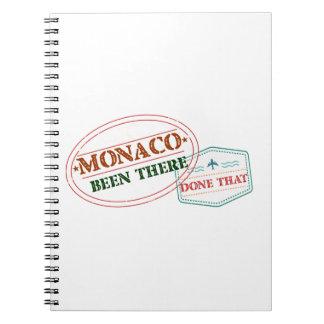 Monaco dort getan dem notizblock