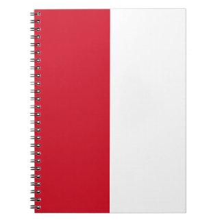 Monaco-Flagge Notizblock