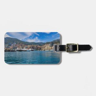 Monaco-Skyline Kofferanhänger