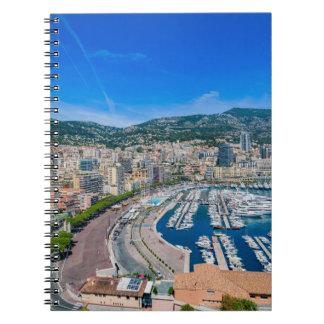 Monaco-Skyline Spiral Notizblock