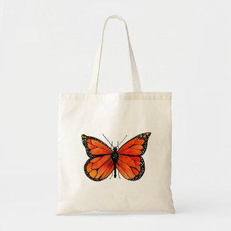 Monarch-Schmetterling auf Taschen-Tasche Budget Stoffbeutel