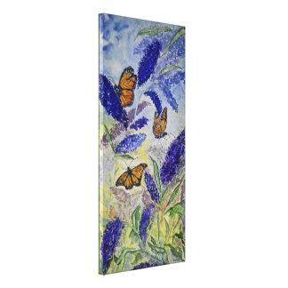 Monarch-Schmetterlingwatercolor-Druck-Leinwand Leinwanddruck