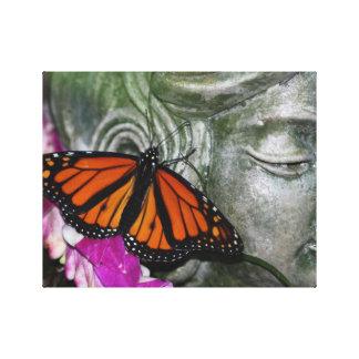 Monarchfalter auf Kwan Yin Leinwanddruck