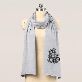 Mond-Blume - ursprüngliche Kunst - stilvoll - Schal