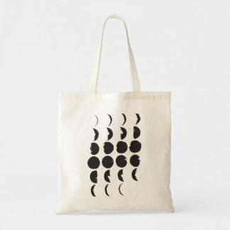 Mond-Phasen-Hand gezeichnete Taschen-Tasche Budget Stoffbeutel