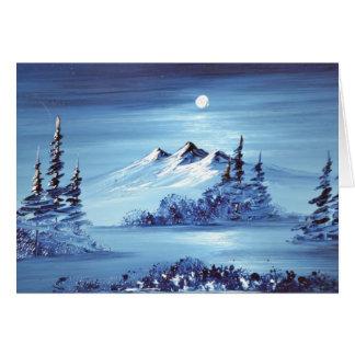 Mond über blauem Berg Karte