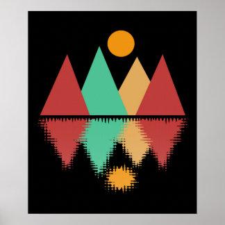 Mond über vier Spitzen #2 Poster