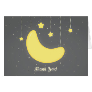 Mond und die Sterne danken Ihnen zu kardieren Mitteilungskarte