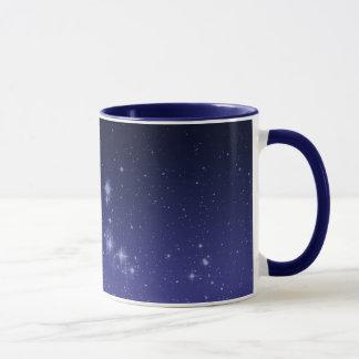 Mond und glänzende Sterne Tasse