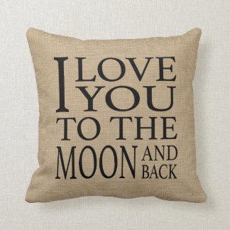Mond und Rückseite Kissen