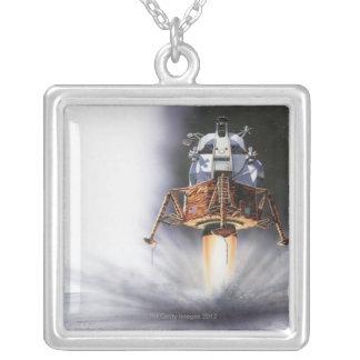 Mondfähre Apollo Eagle Versilberte Kette