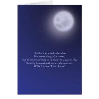 Mondschein mit Zitat Karte