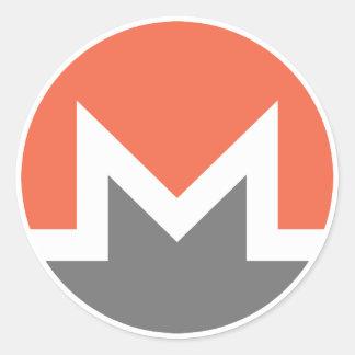 Monero (xmr) runder aufkleber