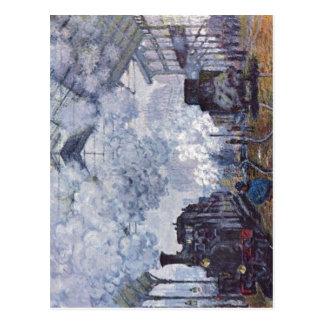 Monet, Heiliges Lazare Claudes Bahnhof in Paris, Postkarte