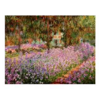 Monet - Iris in Monets Garten Postkarte