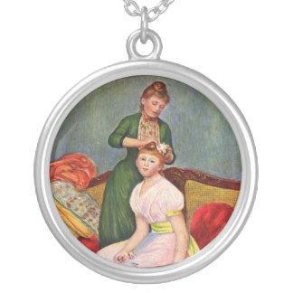 Monet Malerei-Halskette - schöne Kunst - nobel Versilberte Kette