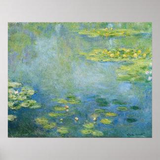 Monet Wasserlilie-Malerei 1906 Poster