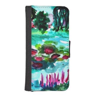 Monets waters iPhone SE/5/5s geldbeutel