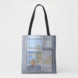 Monhegan Hütten-Fenster-Ansicht