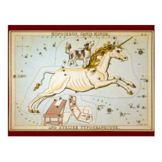 Monoceros, Canis-Minderjähriger und Atelier Postkarte
