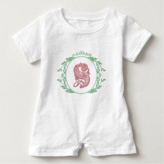 Monogramm-Baby-Spielanzug des Buchstabe-S Baby Strampler