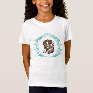 Monogramm Bella des Buchstabe-S angepasster T-Shirt
