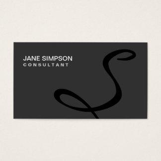 Monogramm-berufliches elegantes schwarzes modernes visitenkarten