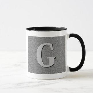 Monogramm-Buchstabe G Tasse