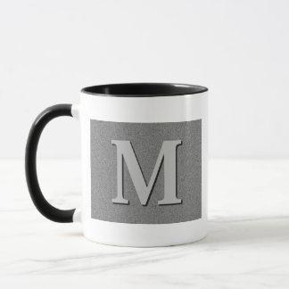 Monogramm-Buchstabe M Tasse