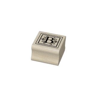 Monogramm des Buchstabe-B Gummistempel