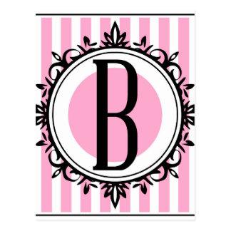 "Monogramm des Rosas ""B"" Postkarten"