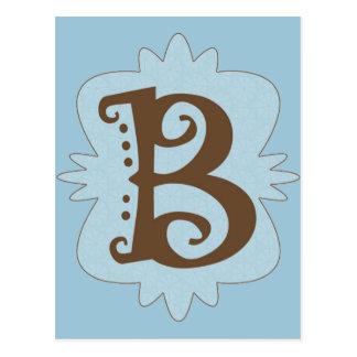 Monogramm-Entwurf des Buchstabe-B Postkarte