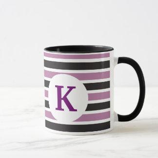 Monogramm-Gewohnheit Druckkaffee-Tassen-lila Tasse