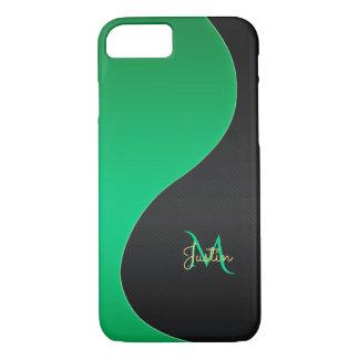 Monogramm-grüner und schwarzer iPhone 7 Kasten iPhone 8/7 Hülle