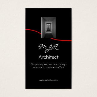 Monogramm, Innenarchitektur-Architekt, roter Visitenkarten