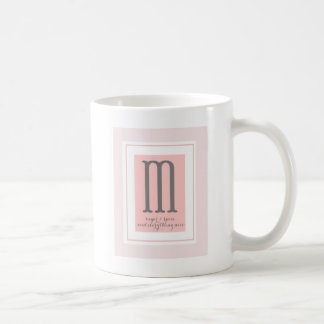 Monogramm - M Tasse