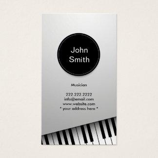 Monogramm-moderne Pianist-Musiker-Musik Visitenkarte