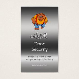 Monogramm, Nachtklub-Tür-Sicherheit, Visitenkarten