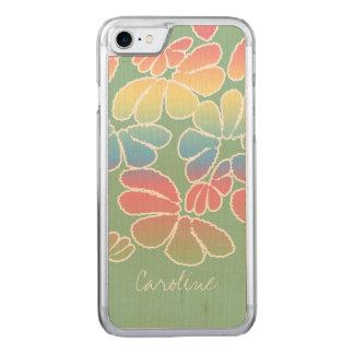 Monogramm-Pastellfarbe wunderliches Ikat Carved iPhone 8/7 Hülle