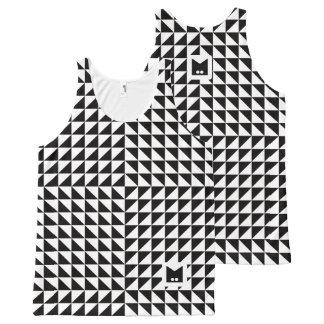 Monogramm-Reihe: Optische Schwarzweiss-Illusion Komplett Bedrucktes Tanktop