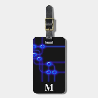 Monogramm-Reise-elektronisches Kofferanhänger