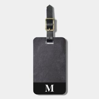 Monogramm-Reise-Grau-Tafel Kofferanhänger