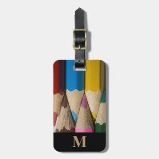 Monogramm-Reise-Regenbogen farbige Kofferanhänger