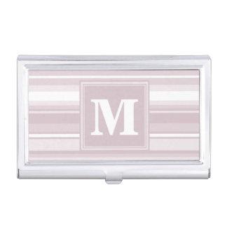 Monogramm-Rosen-Quarzstreifen Visitenkarten-Behälter
