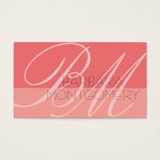 Monogramm-Stylist-Mode-Designer-Geschäfts-Karte Visitenkarten