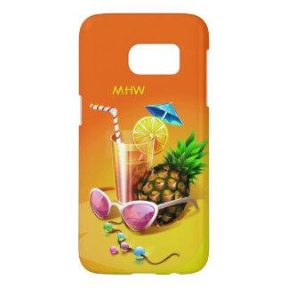 Monogramm-Telefon-Hüllen des tropischen Getränks
