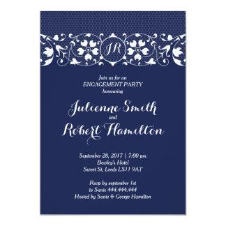 Monogramm-Verlobungs-Party Einladung der