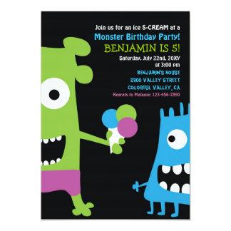 Monster-Geburtstags-Eiscreme scherzt Party 12,7 X 17,8 Cm Einladungskarte